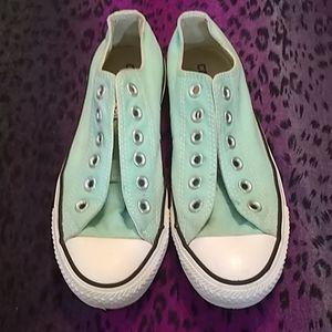 Green Converse All Stars